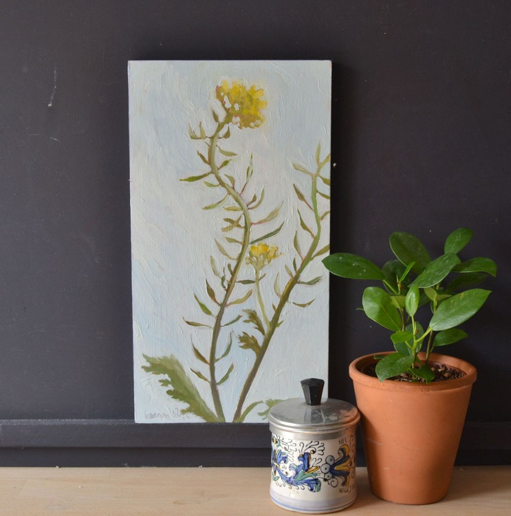 Yellow Rapeseed Flowers Oil Painting n.3 - Image 0
