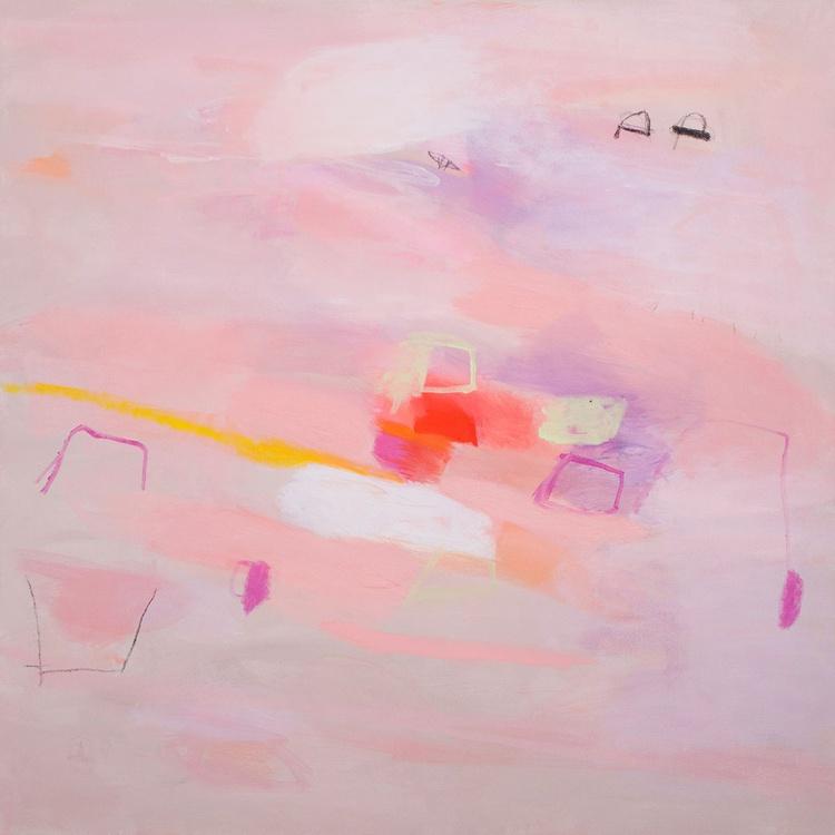 Fishing 01 (80x80 cm, Acrylic Abstract, Ready to Hang) - Image 0