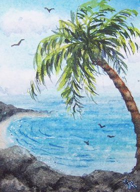 Palm Tree Overlook by Conni Reinecke