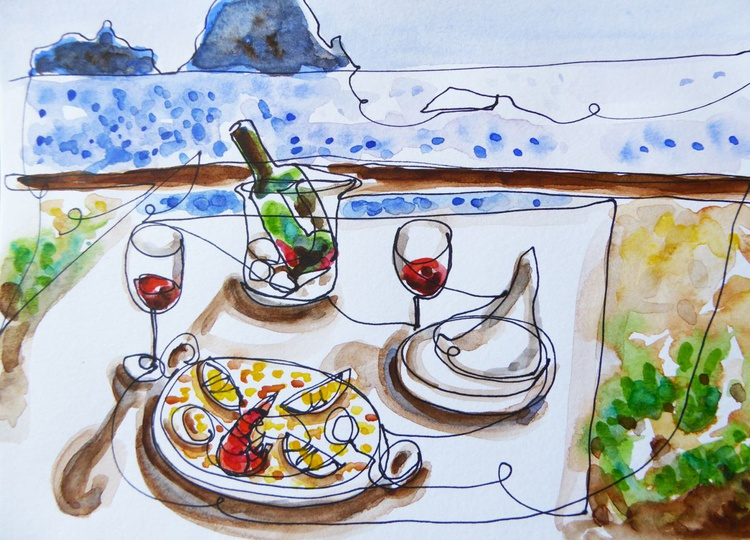 1 Line - Paella at the beach - Image 0