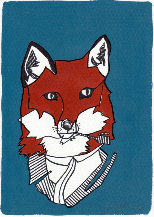 Fox With A Pipe - Image 0