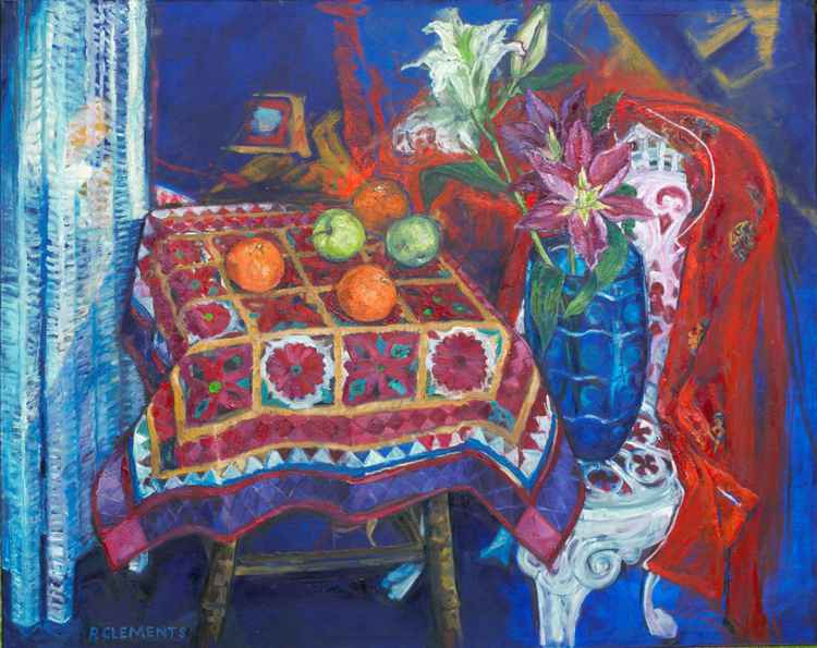 Kimono and Garden Chair Still life -