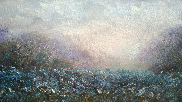 """""""BLUE FLAX AT ROOKERY FIELD"""" - Image 0"""