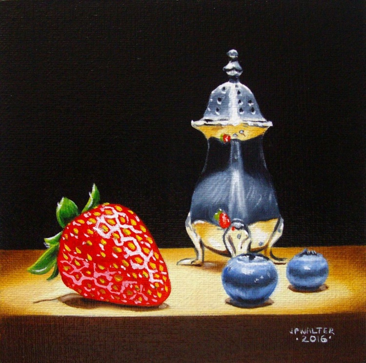 Strawberry in silver / FREE shipping - Image 0