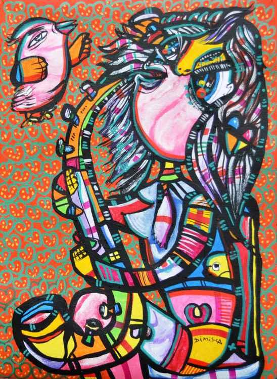 Her Saxophonist - 29x42 -
