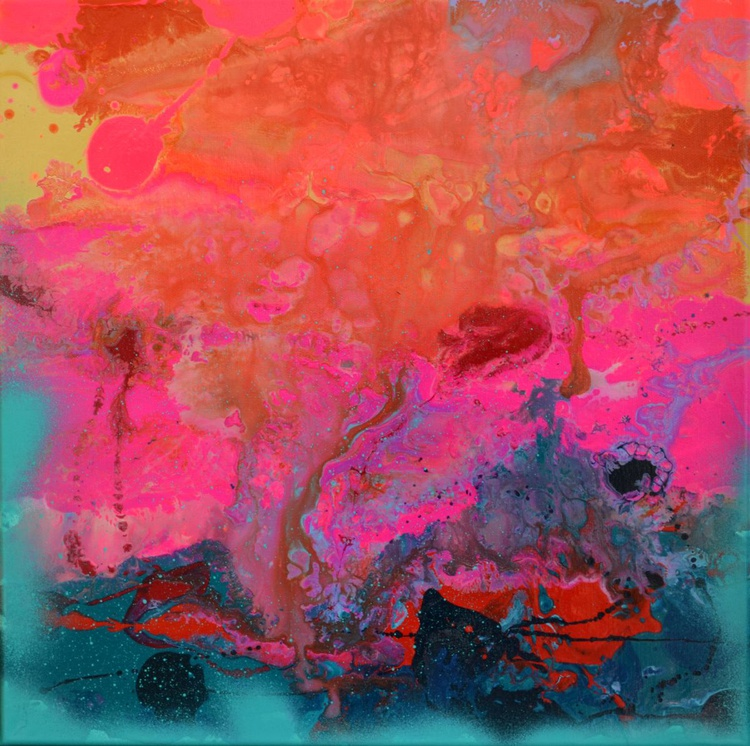 The First Movement - Abstract Painting - Ready to Hang, Hotel and Restaurant Wall Decoration - Image 0