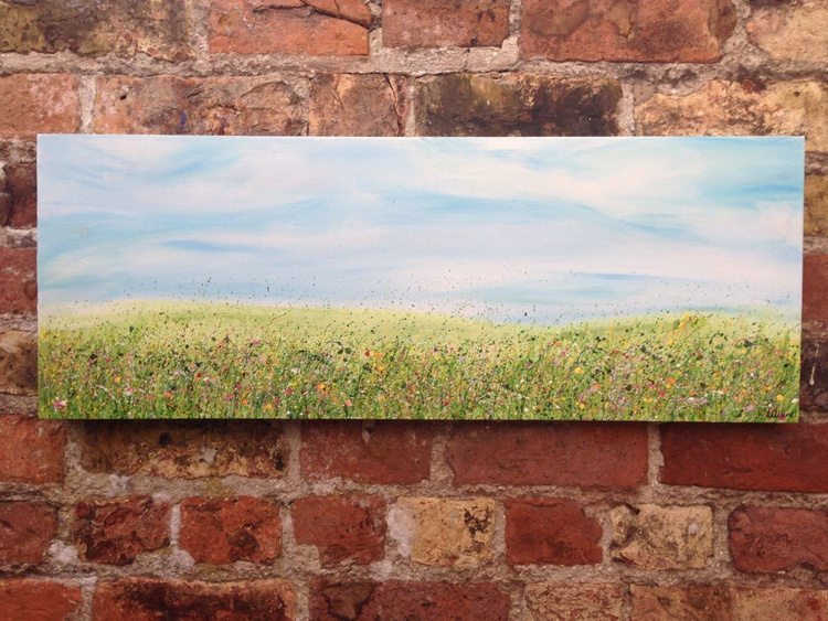 """""""Once Upon A Meadow IV"""" 80x30cm - Image 0"""