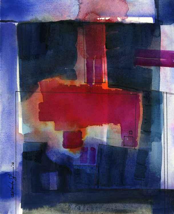 Watercolor Abstraction No. 127 -