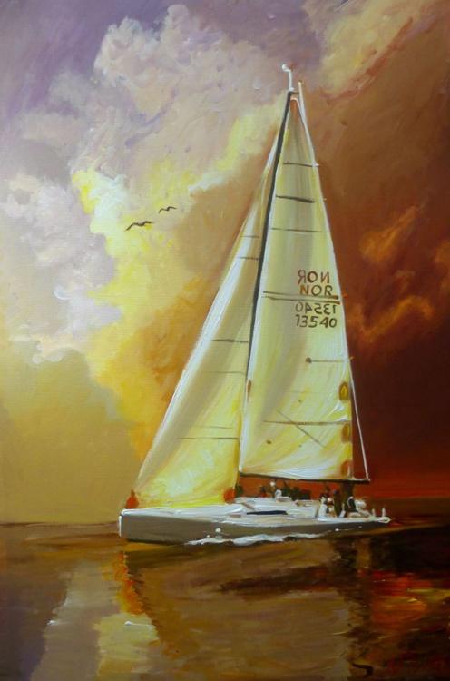 White Sail, 65x95 cm - Image 0
