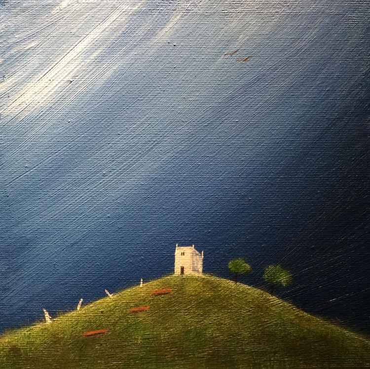 """ Glastonbury tor "" ( miniature size) -"