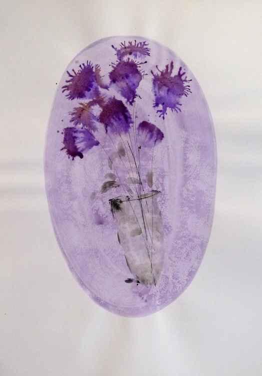 Floral Vignette: Lilacs, 29x42 cm