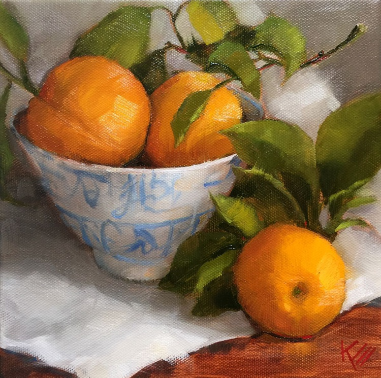 Oranges & Asian Bowl - Image 0