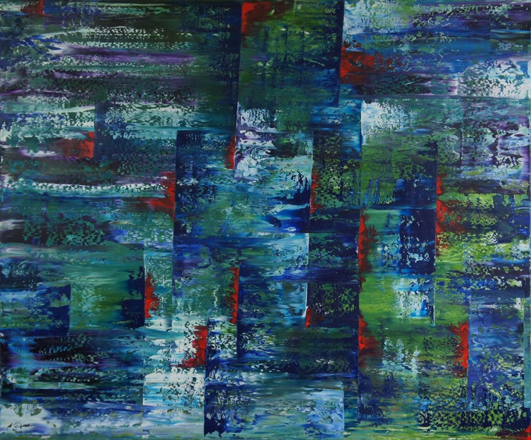 Torn Landscape (120x100cm) - Image 0