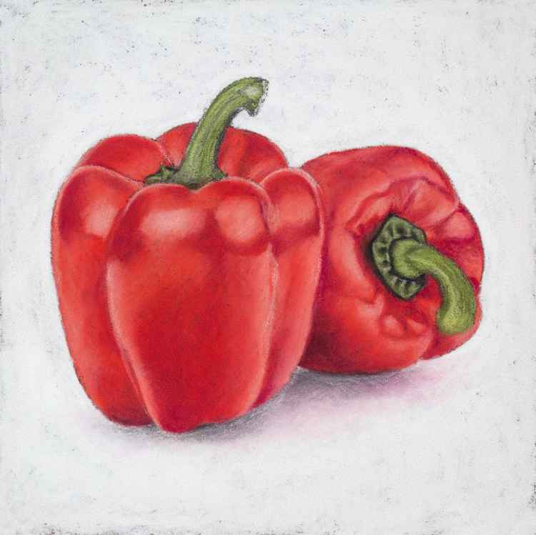 "Original pastel drawing ""Peppers"""