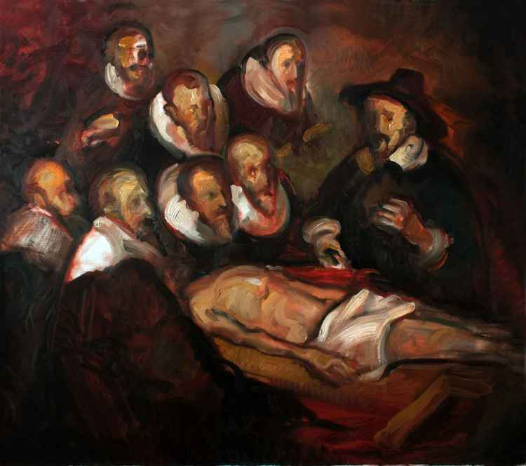 The Anatomy Lesson of Dr. Nicolaes (Rembrandt Van Rijn) interpretation -