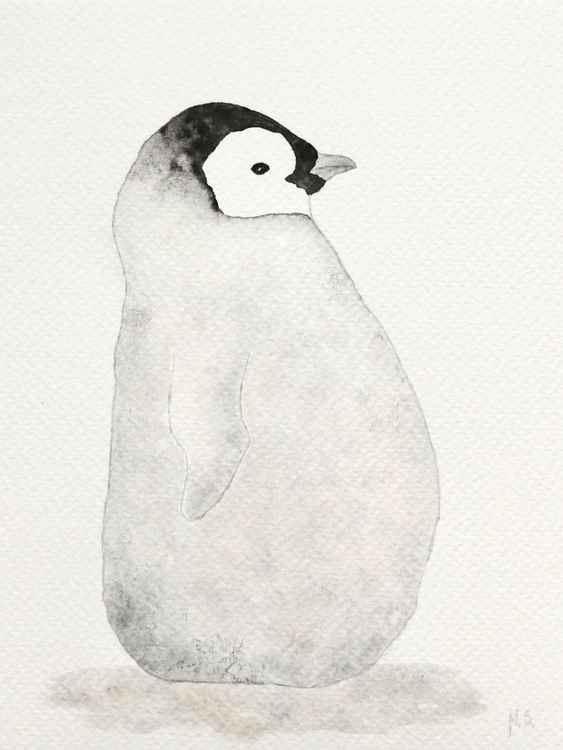 The emperor penguin chick -