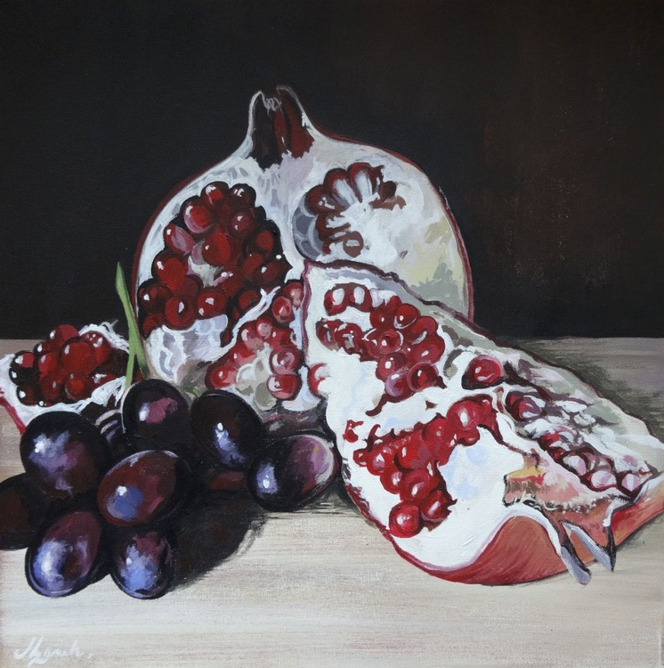 Pomegranate And  Grapes - Image 0