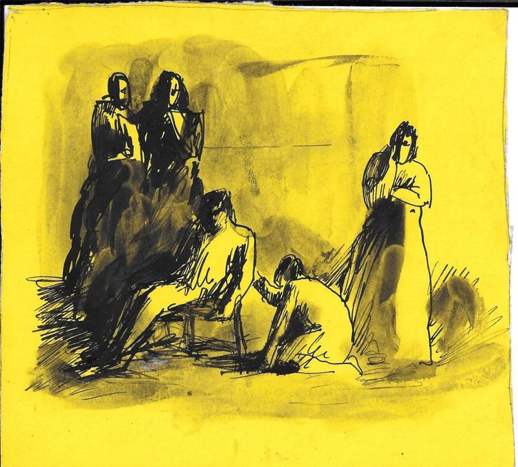Fainting 1, 16x15 cm - Image 0