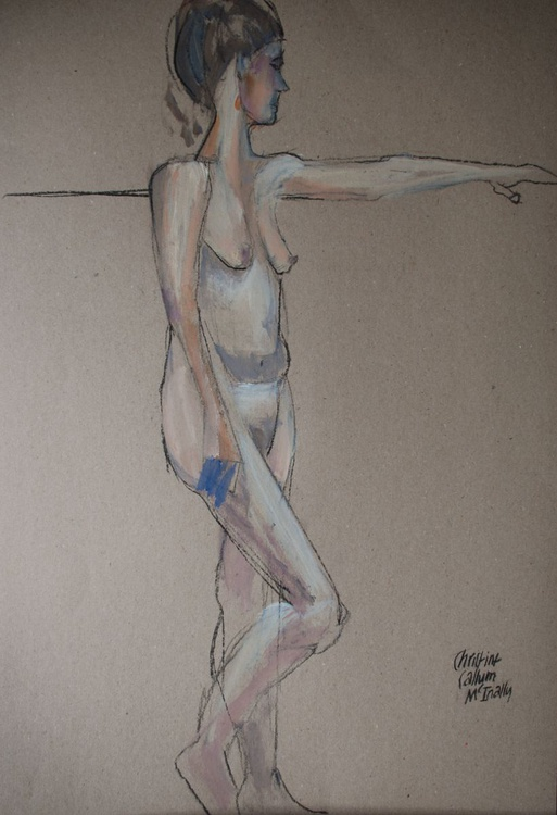 Nude gazing into space - Image 0
