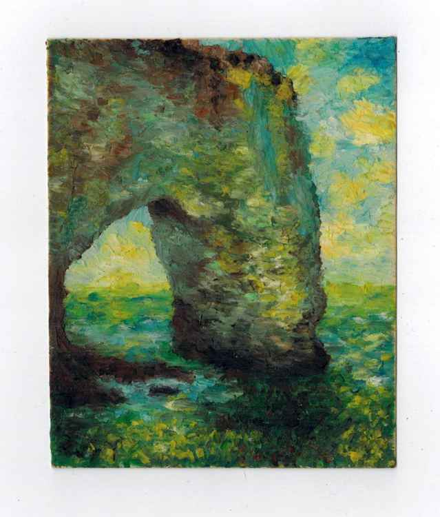 Miniature Dreaming of Monet - The Rock in The Sea