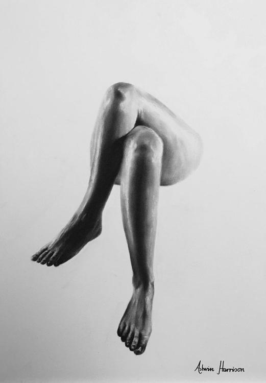 Nude Woman Charcoal Study 33 - Image 0