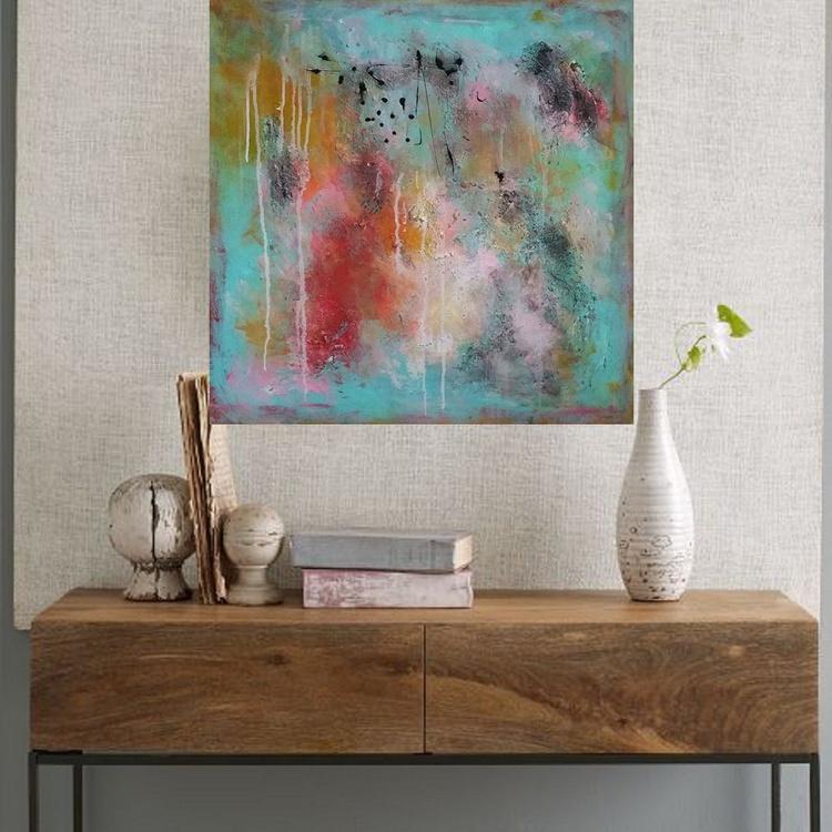 29,5x29,5''( 75x75cm) , Fearless 5, Art Painting Abstract Painting, Modern Urban Art Office Art decor Home Decor - Image 0
