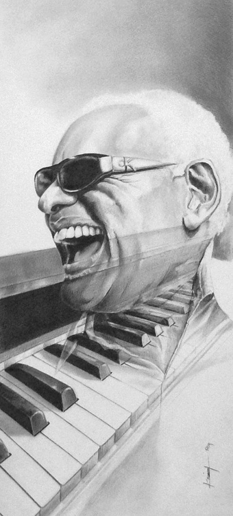 Ray Charles and piano - Image 0