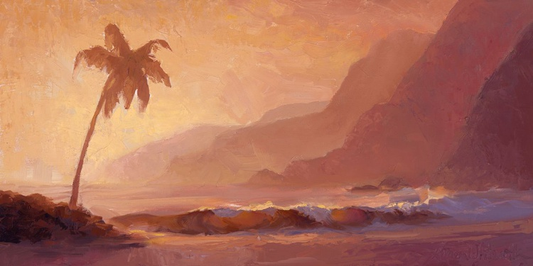 Dreams of Hawaii - Tropical Beach Sunset Landscape - Image 0