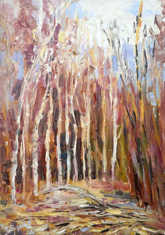 A Birch Grove, Winter - Image 0