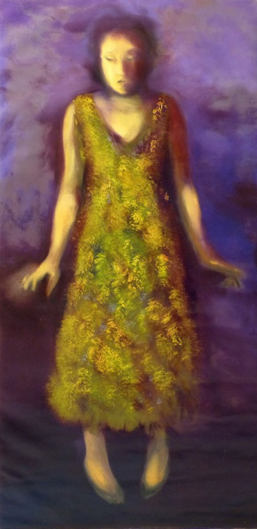 New Summer Dress, oil on canvas, 100x50 cm - Image 0