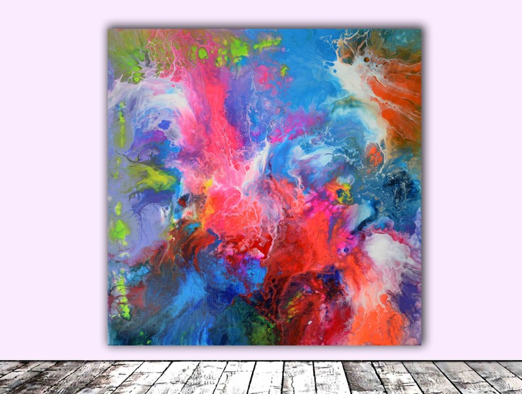 Abstract Love - Abstract Painting - Ready to Hang, Hotel and Restaurant Wall Decoration - Image 0
