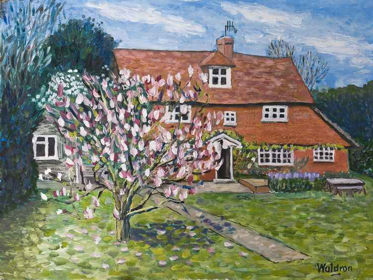 English country cottage landscape