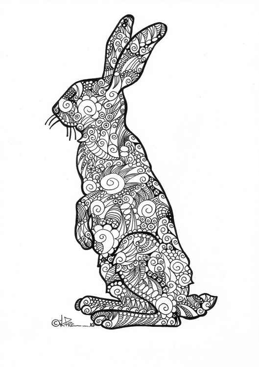 'Doodle Therapy Hare#2'