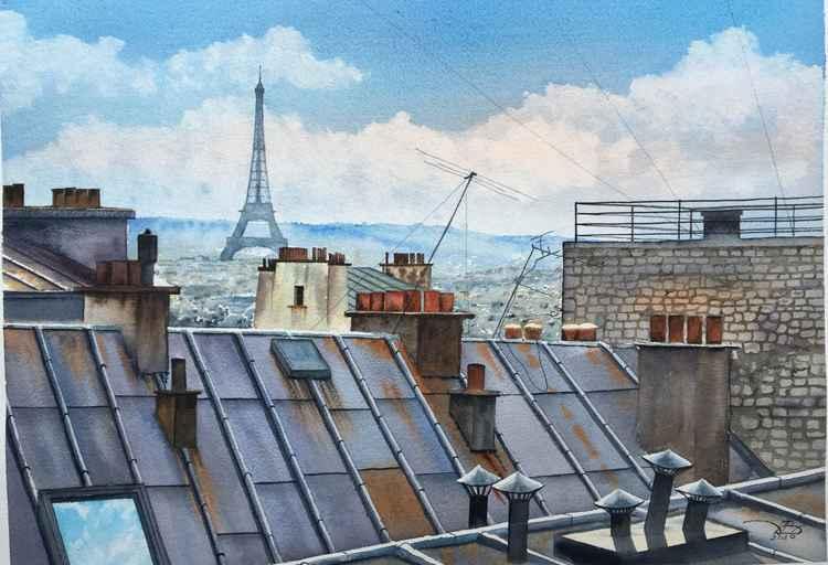 Parisian roofs -