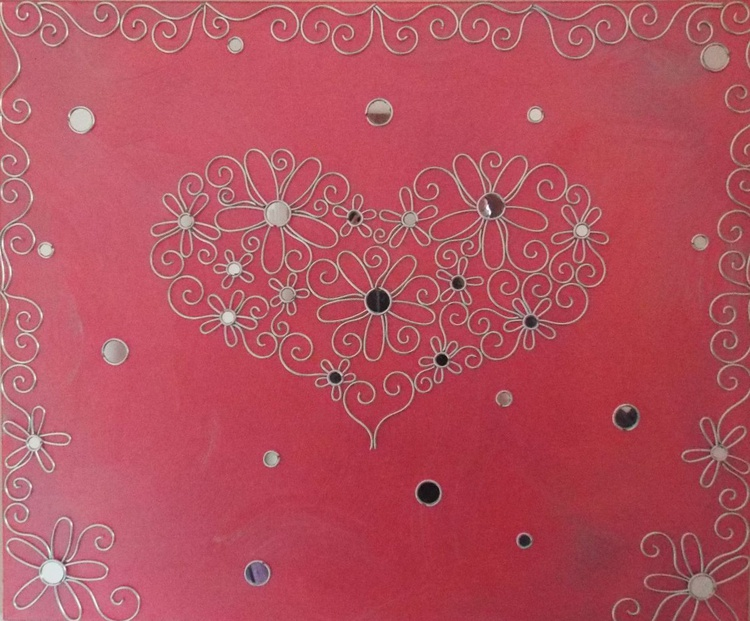 Metallic Pink Wall Candy Heart - Image 0