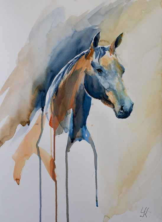 """JULIET"", original watercolour painting, 14""x19.2""(35x48cm) -"