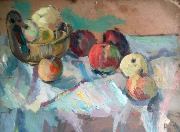 "Still life. ""Apples"" -"