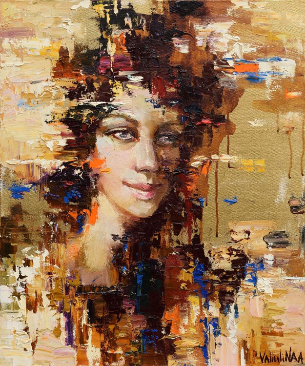 Abstract girl portrait painting #8 - Image 0