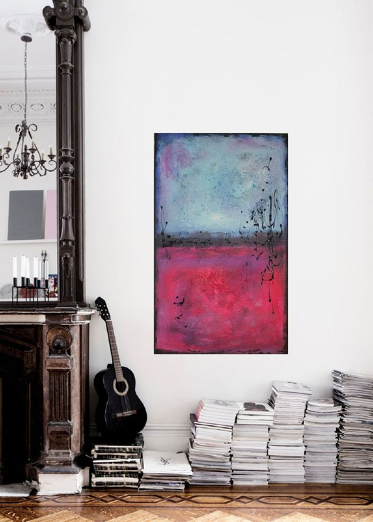 """18""""x29""""(45x75cm), Marseille ,  Ready to Hang, Rothko , Mix and Match  Art Painting Abstract Painting, Modern Urban Art Office Art decor Home Decor Gift Idea - Image 0"""