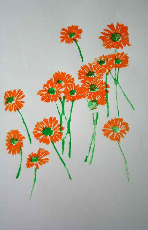 Daisies (orange) -