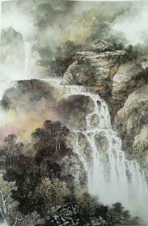 Chinese watercolour Landscape paining-55 -