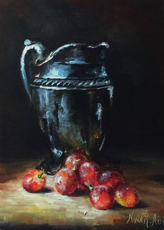 Silver Jug and Grapes - Image 0