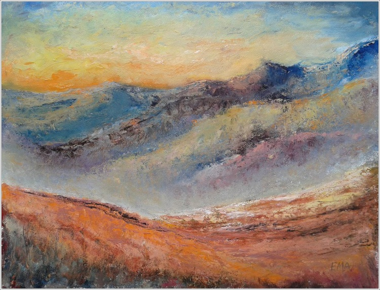 ACROSS FIELDS AND MOUNTAINS, 70x50cm - Image 0