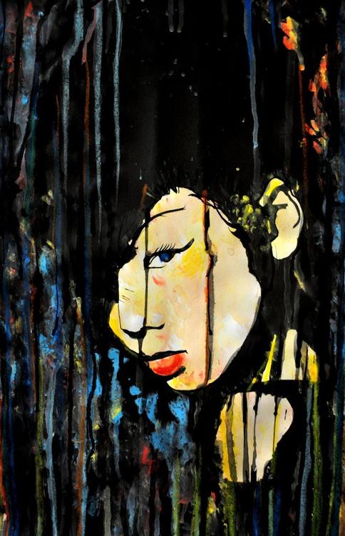 Geisha in the Rain - Image 0