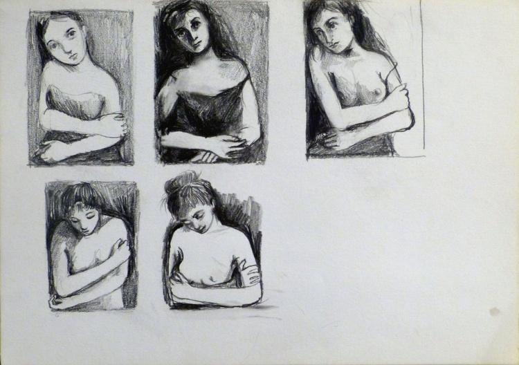 Study of Mona Lisa, 29x21 cm - Image 0