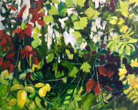 Tangled Vines, Early Autumn by Domenica Brockman