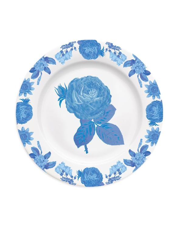 Chintz floral rose plate - Image 0