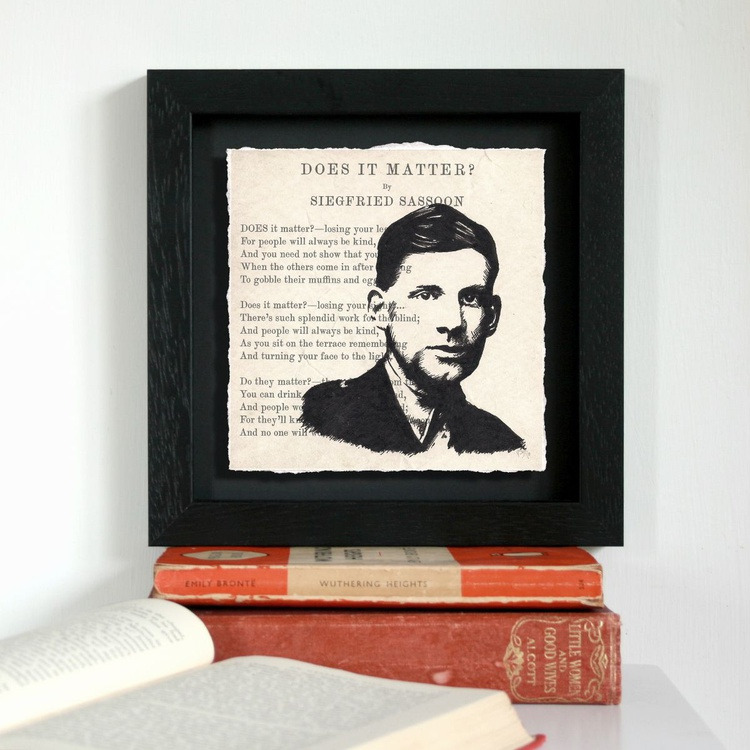 Does it matter? -  Siegfried Sassoon (Framed) - Image 0