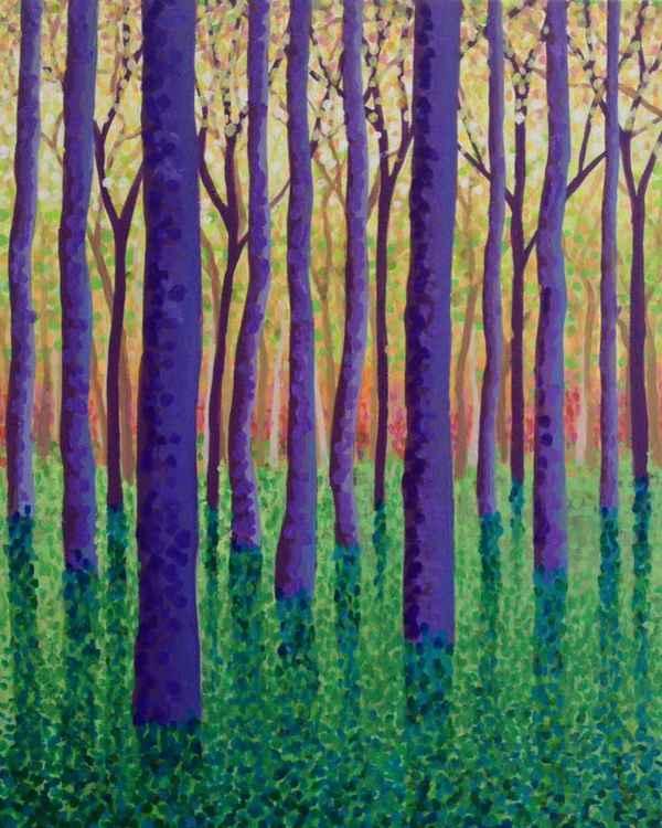 Original Painting of 'Purple Haze' by Kirstin Wood -