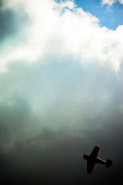 """Harvard T-6 World War II plane aerobatics display"" - Image 0"